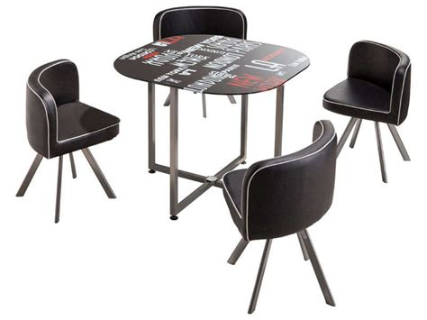 table de cuisine 4 chaises pas cher table ronde chaise encastrable