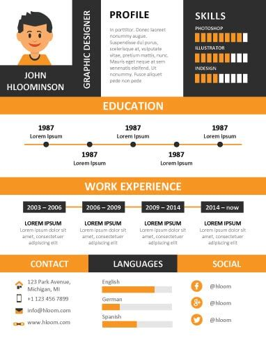 Graphic Resume by 17 Infographic Resume Templates Free
