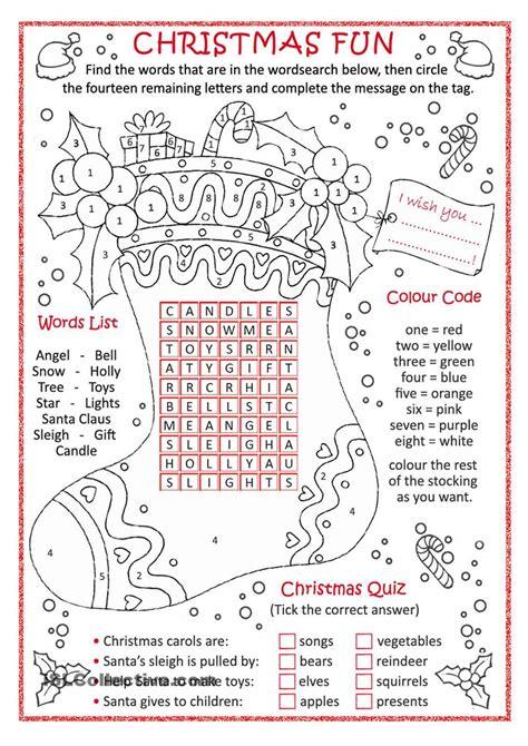 christmas fun school stuff engli
