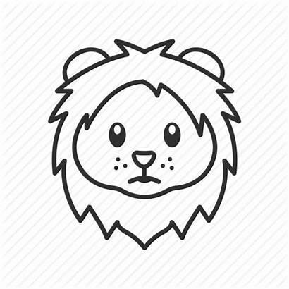 Lion Head Emoji Face Icon Safari Cat