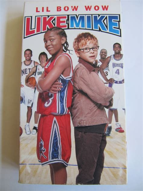 Like Mike Starring Lil Bow Wow Vhs Video Kids Basketball