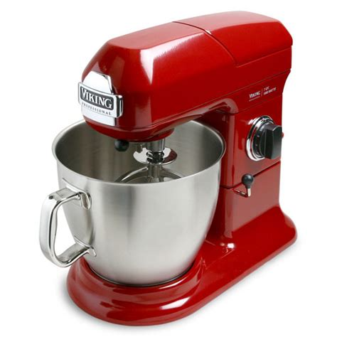 viking stand mixer  quart bright red cutlery