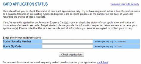 Many major credit card companies allow you to check the status of your application on the website. Amex Application Status + Tips on Reconsideration Phone Line (American Express Credit Cards)