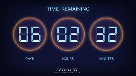 countdown timer remaining  clock counter scoreboard