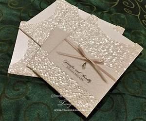 wedding invitation with sparkle pocket design crystal With glitter wedding invitations australia