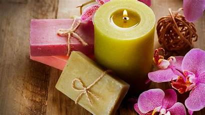 Soap Spa Candle Wallpapers Flower Orchid Desktop