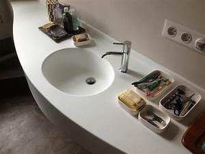 plan vasque corian With salle de bain integree