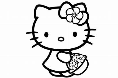 Kitty Hello Coloring Pages Hellokitty