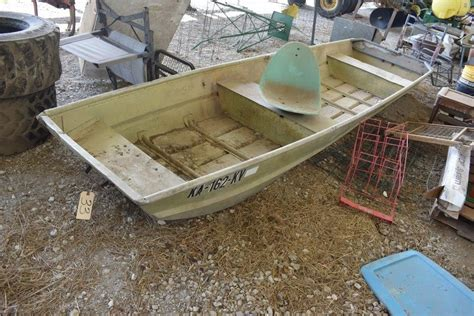 Sears 14 Flat Bottom Boat Chupps Auction And Real Estate