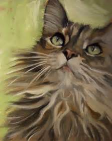 cat painting paintings from the fluffy maine coon type cat