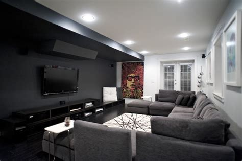 West Th-media Room-contemporary-home Theater
