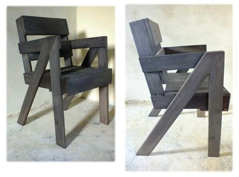 chaise en bois de palette pallet chair  pallets