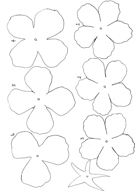 printable flower template cut out 10 best images of easy paper flower templates flower pattern cut out template paper flower