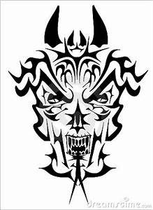 Tribal demon stock vector. Image of devil, monster, demon ...