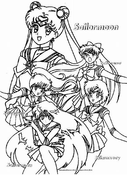 Coloring Sailor Moon Pages Super Mini Characters