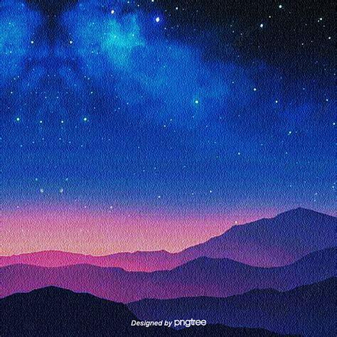 indah suasana minimalis biru  ungu berbintang latar