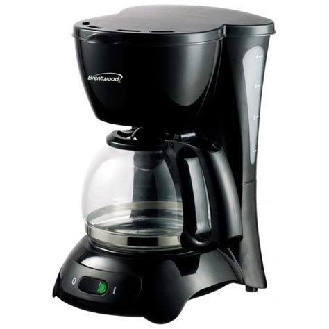 Mainstays 5 cup black coffee maker with removable filter basket, $9.88 Brentwood TS-214 4-Cup Coffee Maker - Walmart.com - Walmart.com