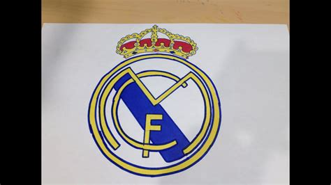 How to Draw the Real Madrid Logo | Logo Drawing - YouTube