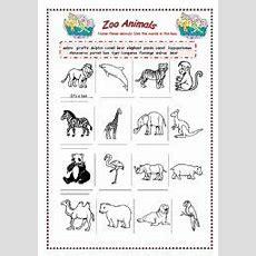 Zoo Animals  Esl Worksheet By Bamarcia