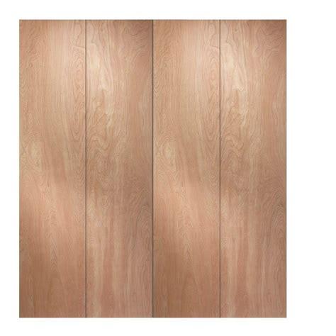 jeld wen 48 in x 80 in woodgrain flush hollow birch