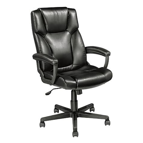 realspace breckland high back executive chair black by