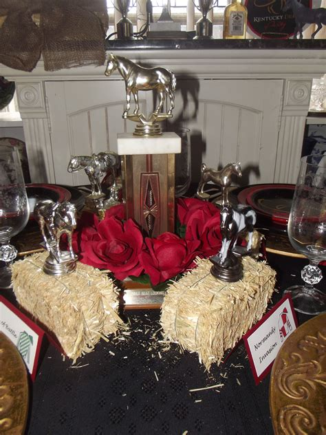 kentucky derby centerpiece    trophies