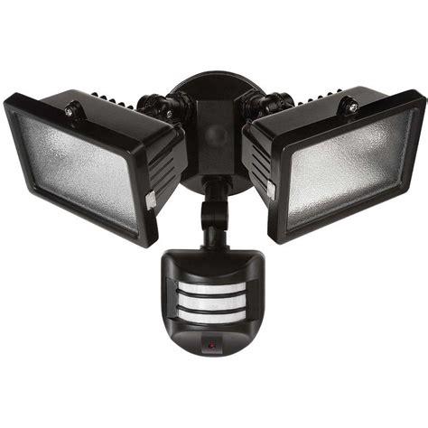 exterior flood lights motion sensor globe electric 240 degree 300 watt outdoor halogen black