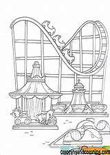 Park Coloring Amusement Pages Fair Parks Theme Drawing Coaster Roller Fun Disney Sheet Shelton County Adult Colouring Karussell Achterbahn Und sketch template