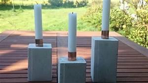 Beton Glätten Anleitung : kerzenst nder aus beton selber machen diy anleitung ~ Bigdaddyawards.com Haus und Dekorationen