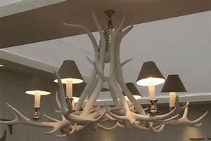 Lustre Bois De Cerf : lustre bois de cerf blanchis 6 bougies mon chalet design chalet pinterest lustre bois ~ Teatrodelosmanantiales.com Idées de Décoration