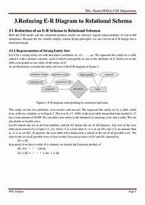 3  Reducing Er Diagram To Relational Schema