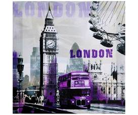 snoopy s collection tableau toile city londres monument chic pop purple