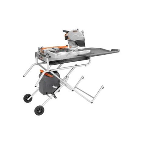ridgid 10 in portable tile saw with laser r4010tr the
