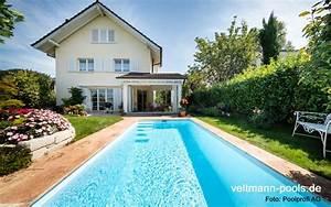 garten schwimmbecken veltmann fertigschwimmbecken With französischer balkon mit garten schwimmbecken