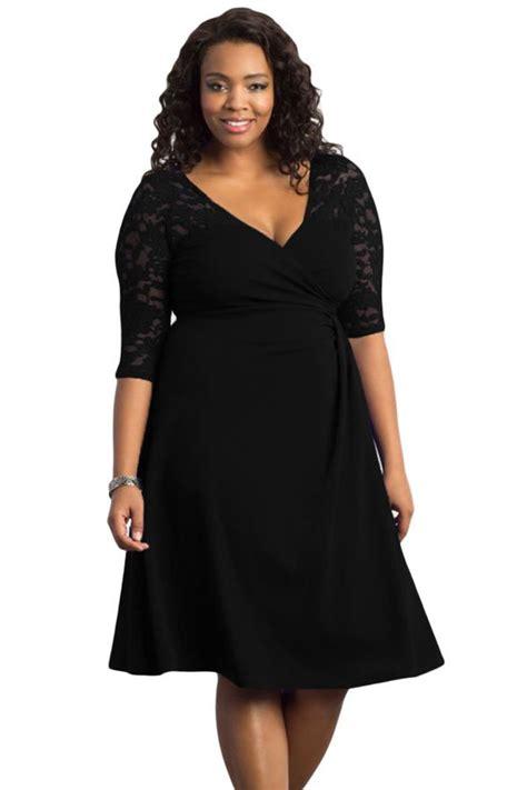 cheap black trendy lace  size womens dresses