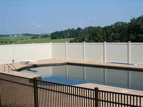 privacy pool fencing vinyl privacy fencing classic knoxville fence bryant fence company