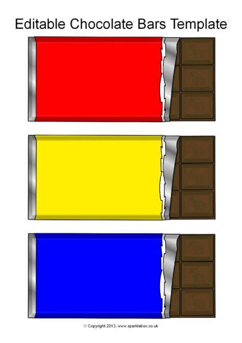 editable chocolate bar templates sb sparklebox