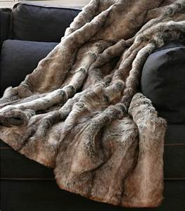 Plaid Fausse Fourrure Grizzly Brun 150 X 170 Cm Plaid