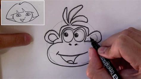 How To Draw Boots The Monkey ( From Dora The Explorer