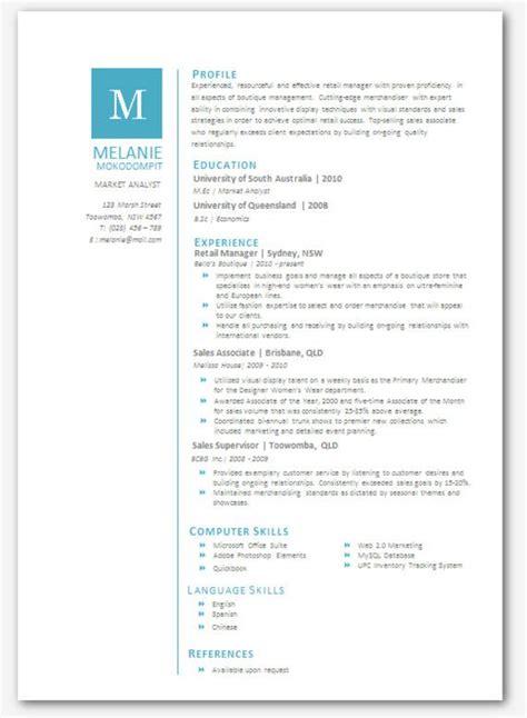 modern microsoft word resume template melanie mokodompit
