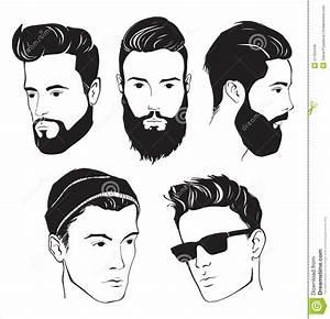 Sistema Del Hombre De La Moda Del Inconformista Con La Barba, El Bigote Y Las Gafas De Sol