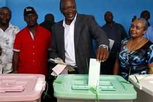 Margaret Kenyatta stood in line to vote at St Mary's ...