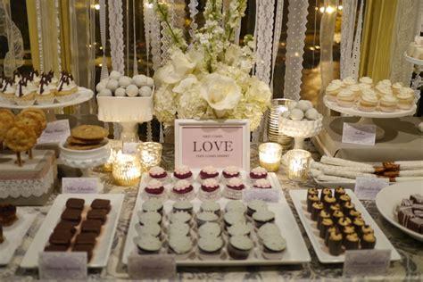 wedding desserts tables milk glass lace dessert table