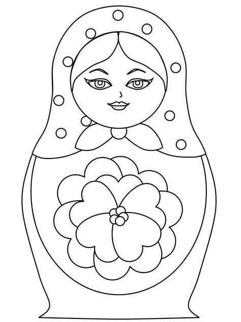Matroesjka Kleurplaat by 137 Best Kleurplaten Matruschka Matreshka Matryoshka