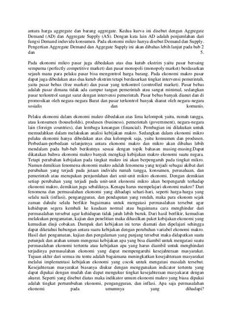 Perbedaan antara teori ekonomi mikro dan teori ekonomi makro