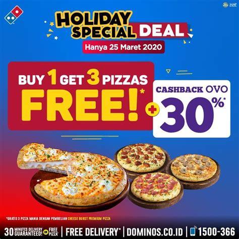 promo dominos pizza beli  gratis  periode  maret