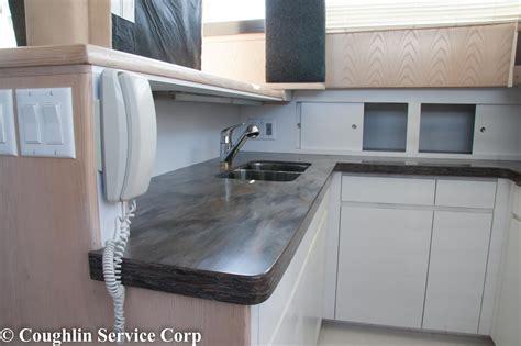 Corian Sorrel Countertop - corian 174 sorrel installation in yacht
