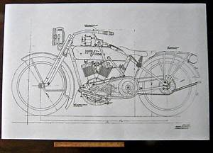 Harley Davidson Early J Military Motorcycle Engine Diagram