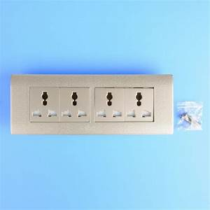 Vi Quad Double Power Point 4 Socket Outlet Wall Plate