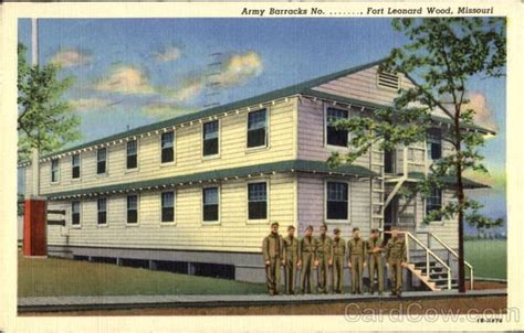 fort leonard wood missouri vintage postcards images
